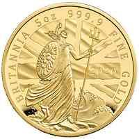 Großbritannien : 500 Pound Britannia Proof 5 Oz  2020 PP
