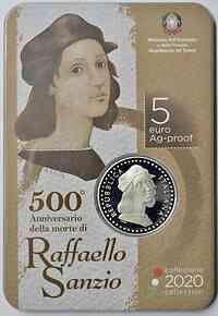 Italien : 5 Euro 500 Jahre Raphael   2020 PP