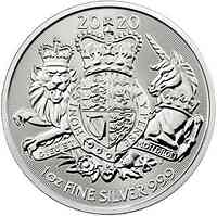 Großbritannien : 2 Pfund Royal Arms   1 oz  2020 Stgl.