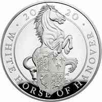 Großbritannien : 10 Pound The Queen´s Beasts #8 - Weißes Pferd von Hannover 5 oz  2020 PP