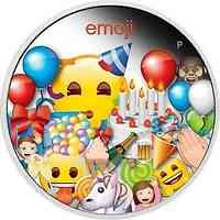 Tuvalu : 1 Dollar Emoji - Celebration   1 oz  2020 PP