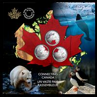 Kanada : 3x25 Cent Connecting Canada Set - im Blister  2020 Stgl.