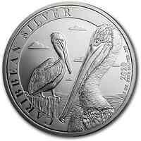 Barbados : 1 Dollar Karibischer Pelikan 1 oz 2020 Stgl.