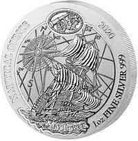 Ruanda-Urundi : 50 RWF Nautische Unze - Mayflower 1 oz  2020 Stgl.