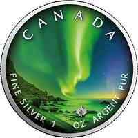 "Kanada : 5 Dollar Maple Leaf - Nordlichter ""Whitehorse"" #6  2020 Stgl."