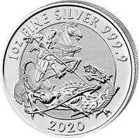 Großbritannien : 2 Pfund St. Georg (Valiant)  1 oz  2020 Stgl.