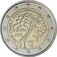 Andorra : 2 Euro 27. Iberoamerikanische Gipfeltreffen in Andorra  2020 bfr