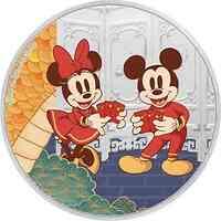 Niue : 2 Dollar Disney - Jahr der Maus ´Longevity´ 1 oz  2020 PP