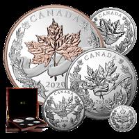 Kanada : 475 Dollar Maple Leaf - Masters Collection  1 + 2 + 5 oz + 1/2 kg + 1 kg   Stgl.