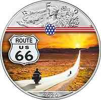 USA : 1 Dollar Silber Eagle – Route 66 #8 2020 Stgl.