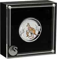 Australien : 1 Dollar Känguruh - Highrelief 1 oz 2020 PP
