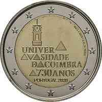 Portugal : 2 Euro 730. Jahrestag der Gründung der Universität Coimbra  2020 bfr