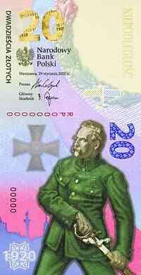 Polen : 20 Zloty Schlacht um Warschau - Banknote 2020 bfr