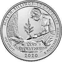 USA : 25 Ct Marsh-Billings-Rockef.Nat.Hist.Park/Verm. 5 oz  2020 Stgl.