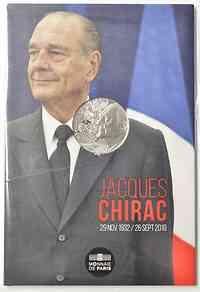Frankreich : 10 Euro Jacques Chirac  2020 Stgl.