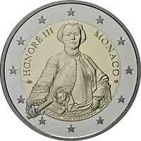 Monaco : 2 Euro 300. Geburtstag von Fürst Honoré III.  2020 PP