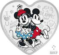 Niue : 2 Dollar Disney Love ´Mickey Mouse & Minnie´  1 oz  2021 PP