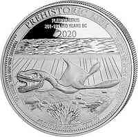 Kongo : 20 Fr Prehistorical Life - Plesiosaurus 1 oz 2020 Stgl.