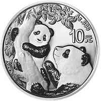 China : 10 Yuan Silberpanda  2021 Stgl.