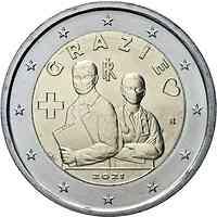 Italien : 2 Euro Medizinische Fachkräfte Grazie  2021 bfr