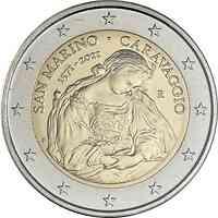 2 Euro Gedenkmünze 2021 / 2 Euro Sondermünze 2021 San Marino 450. Geburtstag von Caravaggio