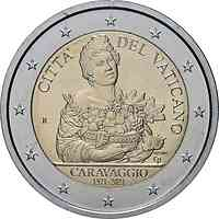 Vatikan : 2 Euro 450. Geburtstag von Caravaggio  2021 Stgl.