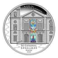 Solomon Islands : 8 Dollar Kathedrale von Macao 3oz Silber Proof   2020 PP