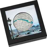Palau Islands : 20 Dollar Tiffany Art 2021 - Metropolis Paris 3 oz   2021 PP
