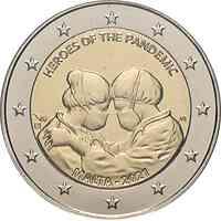 Malta : 2 Euro Helden der Pandemie  2021 Stgl.