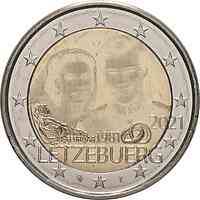 Luxemburg : 2 Euro 40. Hochzeitstag des großherzoglichen Paares / Hologrammprägung  2021 bfr