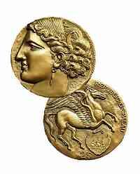 Palau Islands : 2 Dollar Pegasus - Historische Carthage Tanit   2021 bfr