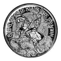 Tschad : 10000 Franc St. George Slays the Dragon   2021 PP