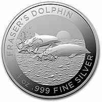 Australien : 1 Dollar Frazers Delfin 1 oz  2021 Stgl.