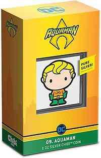 Niue : 2 Dollar Aquaman (DC Comics) - Chibi Coin Collection  2021 PP