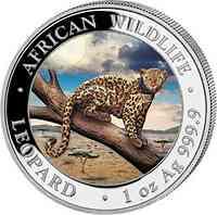 Somalia : 100 Schilling Leopard farbig 2021 Stgl.