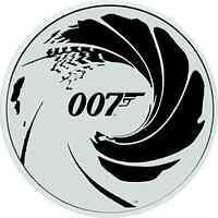 Tuvalu : 1 Dollar James Bond - No Time To Die - Bullion 1 oz farbig  2022 Stgl.