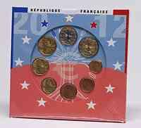 Frankreich : 3,88 Euro original Kursmünzensatz der französischen Münze  2012 Stgl. KMS Frankreich 2012