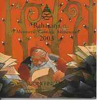 Finnland : 3,88 Euro original Kursmünzensatz der finnischen Münze Weihnachtssatz mit Weihnachtsmedaille  2003 Stgl.