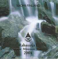Finnland : 3,88 Euro original Kursmünzensatz der finnischen Münze  2004 Stgl. KMS Finnland 2004