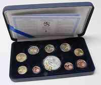 Finnland : 5,88 Euro original Kursmünzensatz der finnischen Münze inkl. 2 Euro Gedenkmünze Römische Verträge  2007 PP KMS Finnland 2007 PP
