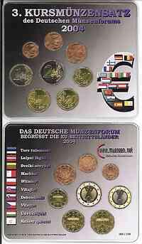 Deutschland : 3,88 Euro original KMS des Deutschen Münzenforums verpackt durch das Bayerische Hauptmünzamt - einzeln numeriert  2004 Stgl. KMS Münzenforum 2004