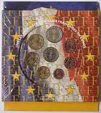 Frankreich : 3,88 Euro original Kursmünzensatz der französischen Münze  1999 Stgl. KMS Frankreich 1999