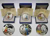 Frankreich : 4,5 Euro Set : 3 x 1,5 Euro : Pinocchio, Schneewittchen, Aschenputtel inkl. Zertifikaten und Originaletuis  2002 PP