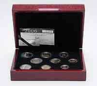 Luxemburg : 5,88 Euro original Kursm�nzensatz aus Luxemburg in Originalkassette, mit 2 Euro Gedenkm�nze  2006 PP KMS Luxemburg 2006 PP
