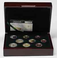 Luxemburg : 5,88 Euro original Kursm�nzensatz aus Luxemburg mit zus�tzlicher 2 Euro Gedenkm�nze (Chateau Berg)  2008 PP KMS Luxemburg 2008 PP