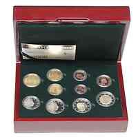 Luxemburg : 7,88 Euro original Kursmünzensatz aus Luxemburg mit zusätzlicher 2 Euro Gedenkmünze (10 Jahre Euro und Charlotte)  2009 PP KMS Luxemburg 2009 PP