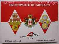 Monaco : 3,88 Euro original Kursmünzensatz aus Monaco  2001 Stgl. KMS Monaco 2001