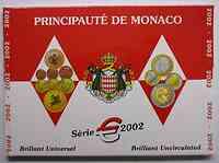 Monaco : 3,88 Euro original Kursmünzensatz aus Monaco  2002 Stgl. KMS Monaco 2002
