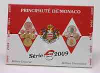 Monaco : 3,88 Euro original Kursmünzensatz aus Monaco 2009 Stgl.