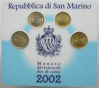 San Marino : 3,70 Euro sogenanntes Mini Kit  2002 Stgl. KMS San Marino 2002 Mini Kit